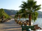 The seafront promenade, great for a walk, run or cycling, stretches from Fethiye to Calis Beach.