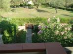 Vista sul giardino privato