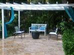 Small pergola in the back of the villa, ideal for afternoon drinks watching the sun go down.