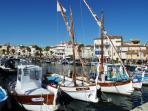 Pointus sur le port de Sanary