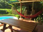 Rancho: bench and hammock