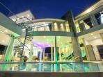 Villa Seawadee exterior in the night time