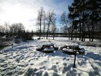 Villa yard in the winter