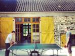 We have a table-tennis table for you to enjoy at your leisure.