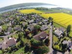 Luftbild vom Gästehaus zum Möhnesee