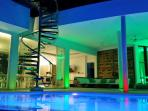 you can change color of swimming pool. pink, red, green, light blue, indigo - which one you like?
