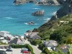 Trevaunance Cove - beach, pub, bistro, chip shop. What more could you want?