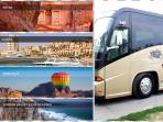 Petra,Aqaba ,Wadi rum ,you name it we have a buss tourism local office next to us that can take you.