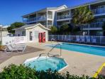 Enjoy The amenities, Grills, Hot Tub, and Pool. Also Right Across The Street From the Gulf.