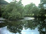 Horseshoe Falls on the River Dee (ten minutes' walk from Velvet Cottage)