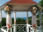 Wedding Gazebo at Villa Capri all decked out