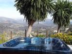 Stunning view of the mountains  from the luxury Jacuzzi