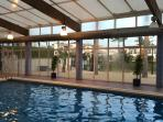 Indoor pool with jacuzzi, sauna and steam room open October to May.