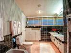 Adorable retro master bath with separate shower and bath!