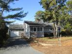 3 cars can be parked in driveway-120 Riverside Drive West Harwich Cape Cod New England Vacation Rentals