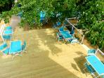 Sun Deck with table and chairs..