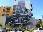 Mural outside building by Eduardo Kobra