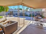 Relax in the sun or shade on the private patio