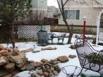 Backyard in winter.