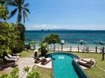 Beautiful ocean views stretching across to Nusa Penida, from all the rooms in the villa