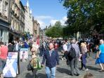 The Grassmarket during the Festival