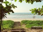 Your private beach steps..
