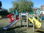 The play park is just over the road next to the Primary School.