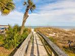 Boardwalk to the private beach access