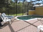 Pool overlooks conservation area, very private.