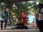 Live music at Catherine's Cafe Plage on Pigeon Beach