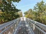 Private boardwalk to Lake Michigan