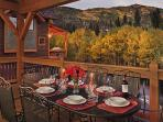 Outdoor dining with an unbeatable view