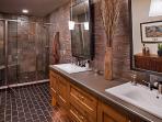 Lower level master bathroom