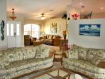 Large open layout w/TV family room & separate sitting area.  Queen sleeper sofa.
