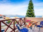 Avra Apartments, Sirokos, sea view from 2nd balcony