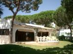 Rear of the villa - with private garden, lots of space and shade if you need it.