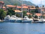our apartment is just few meters from Cavtat  Riviera