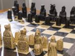 The replica Viking Isle of Mull chess set seems to be very well used