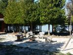 Lakeside fire pit area