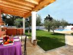 Villa Antigoni is a peaceful villa blessed with stunning panoramic views across eastern Corfu!