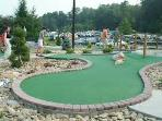 Mini golf course located at Wellness Center- fun for all ages!
