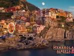 ALBERTA MANAROLA panoramic view, in the circle ALBERTA house