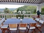 Dining Terrace with spectacular views (seats 10)