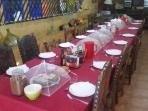 comedor y desayunos Mas Torrencito pet friendly Girona