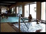 Indoor heated pool and jacuzzi.