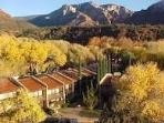 Resort overlooks Oak Creek and nestled in the Sedona Red Rock Mountains.