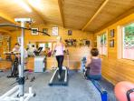 Fully equipped a/c  fitness studio at St Michaels Holiday Home