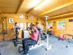 A/c fitness gym at St Michaels Holiday Home