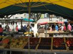 The market in Beaucaire