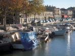 The marina in Beaucaire